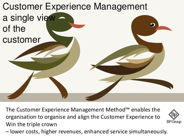 Customer Experience Management  a single view  of the  customer  The Customer Experience Management Method™ enables the  o...