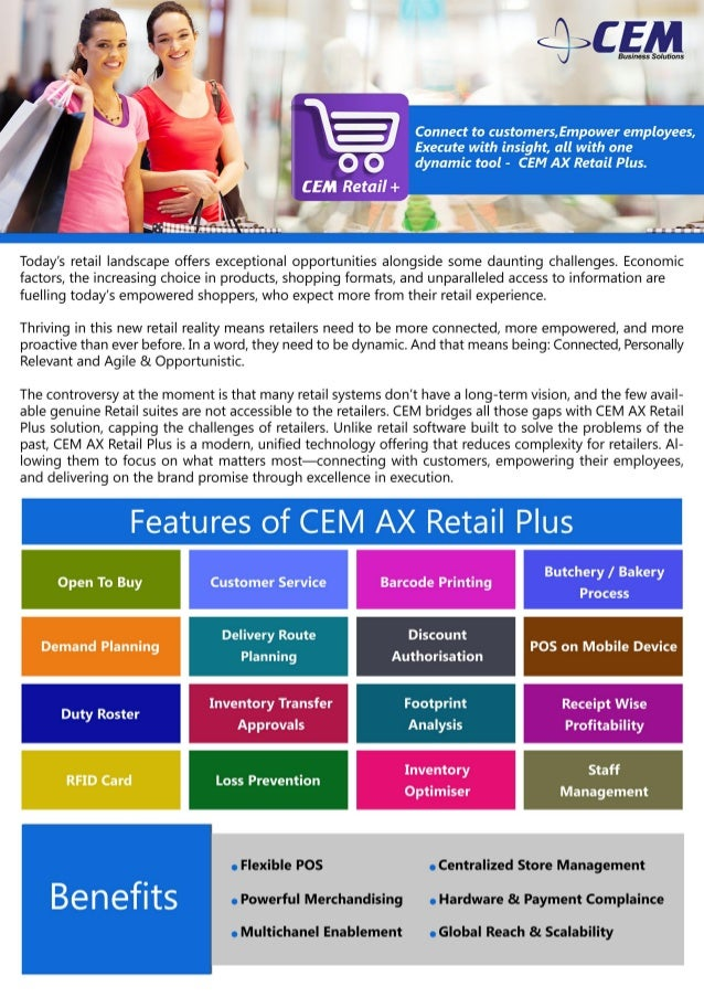 CEM AX Retail Plus Brochure