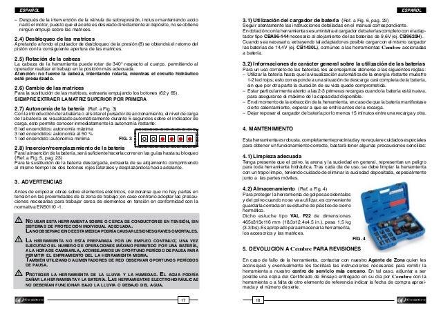 ESPAÑOL  ESPAÑOL  – Después de la intervención de la válvula de sobrepresión, incluso manteniendo accio  nado el motor, ...
