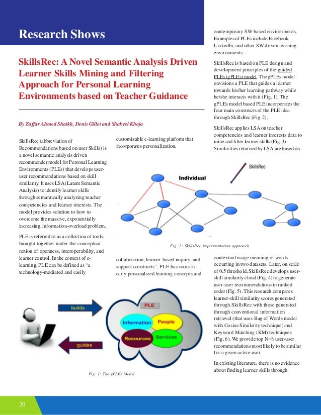20 SkillsRec: A Novel Semantic Analysis Driven Learner Skills Mining and Filtering Approach for Personal Learning Environm...