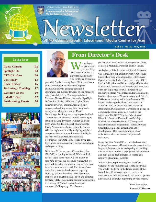 cemca newsletter v1 n2 may2015
