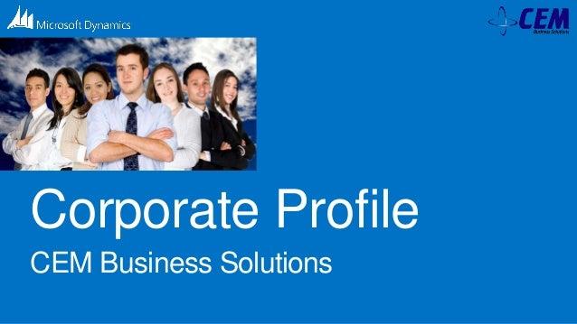 Corporate Profile CEM Business Solutions