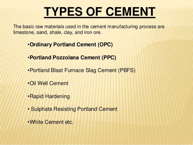Types Of Concrete : Cement