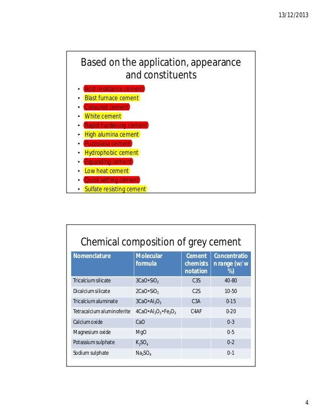 Calcium Aluminate Cement Applications : Cement industries