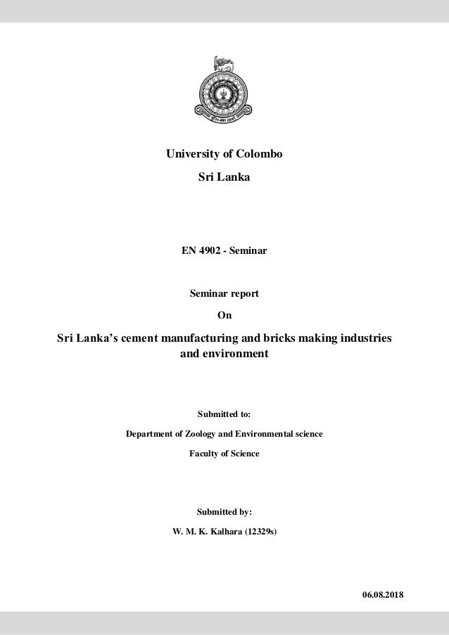 Sri Lanka's cement manufacturing and bricks making industries and env…