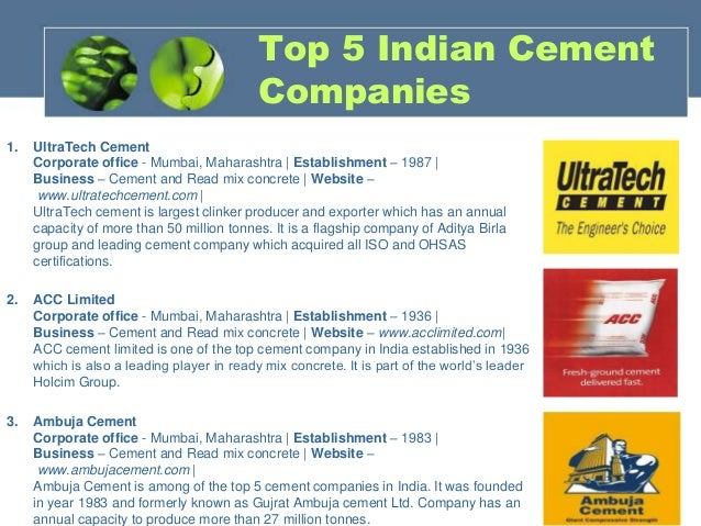 Cement & construction