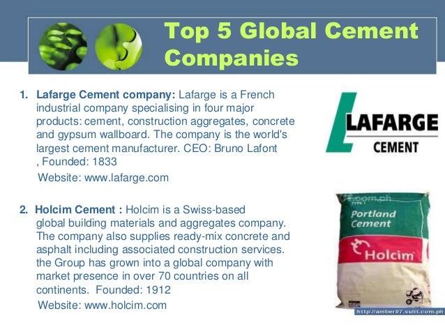 Associated Cement Companies : Cement construction