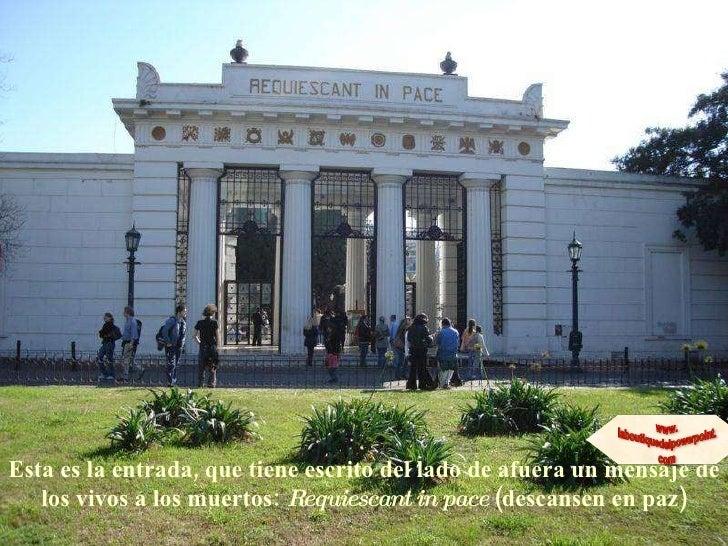 Cementerio de la recoleta for Cementerio jardin de paz buenos aires