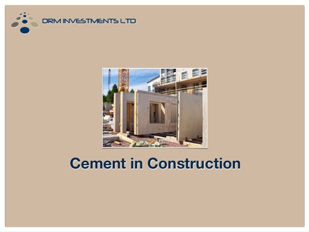 Cement in Construction