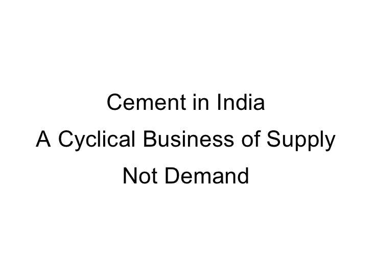 Cement industry Slide 3