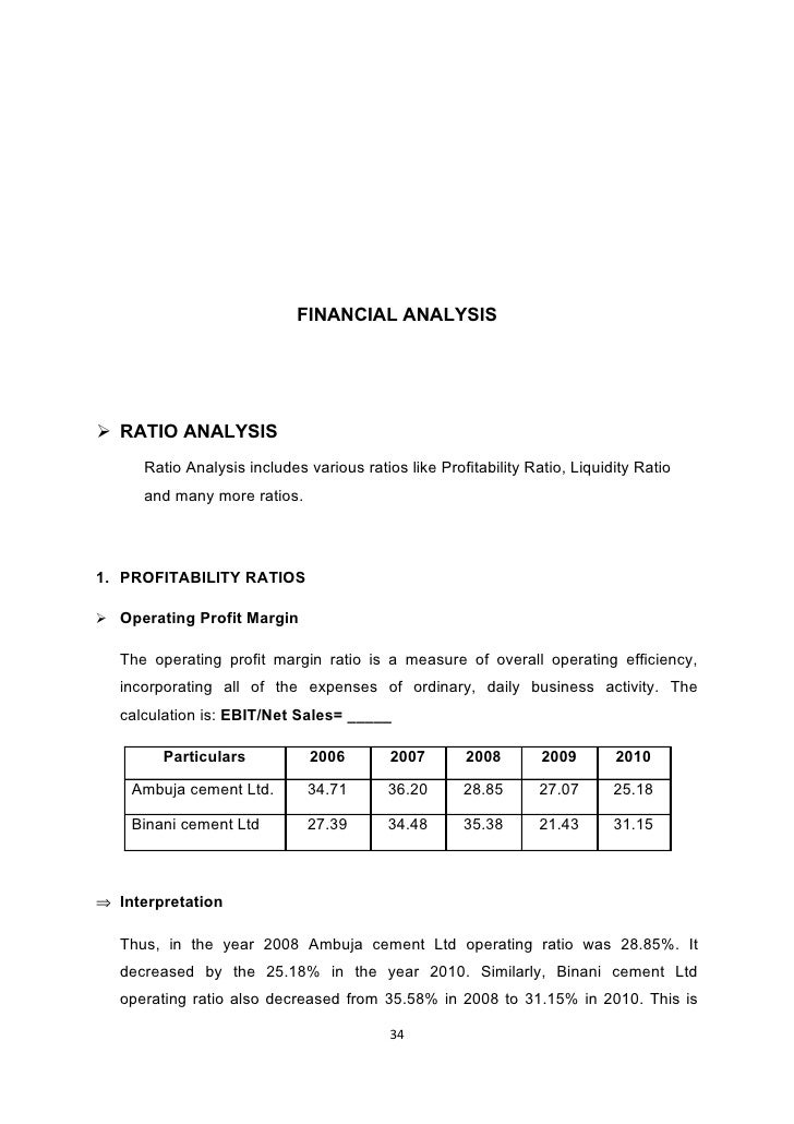 ratio analysis of cement industry Cement industry in india  this study is focused on cement industry  key  words: capital structure, profitability, ratio analysis, correlation analysis.