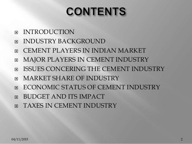 Cement Industry Five Forces Model : Cement industry