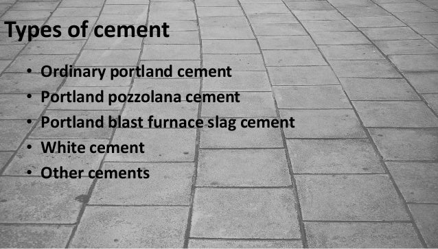 Ordinary Portland Cement : Cement industry