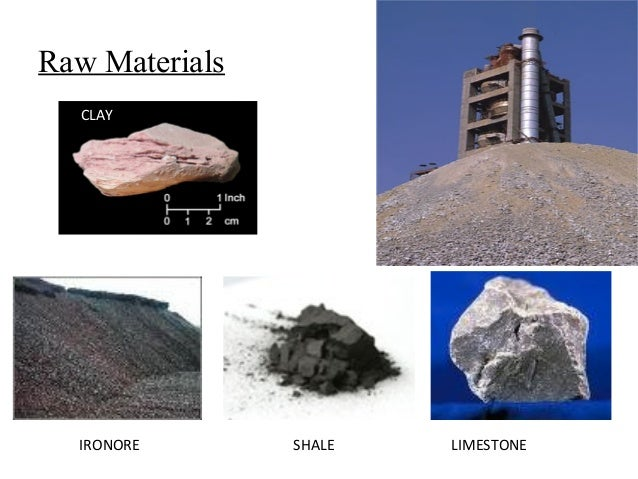 Cement Raw Materials 3 : Cement industry