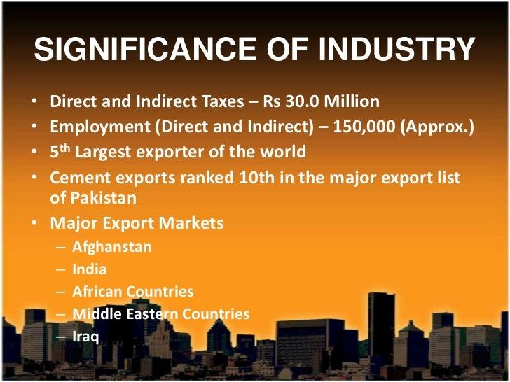 Cement industry of pakistan Slide 3