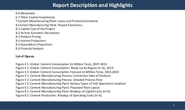 Cement Manufacturing Plant Project Report