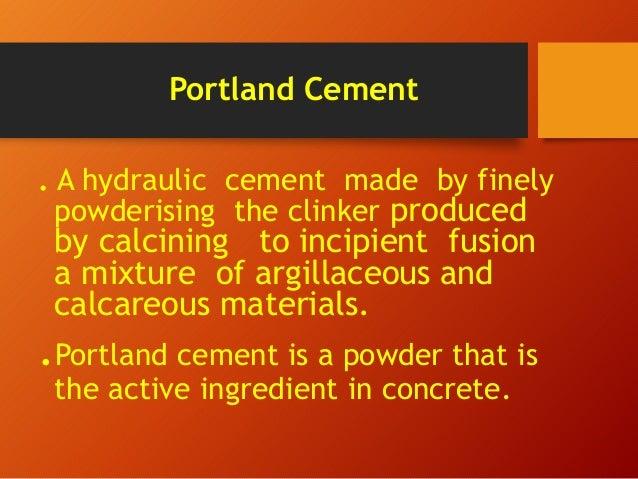 Portland Cement Composition : Cement manufacturing process