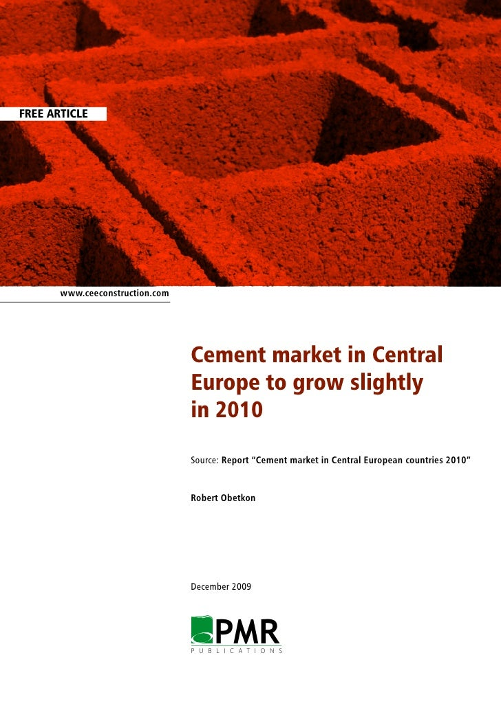 FREE ARTICLE            www.ceeconstruction.com                                      Cement market in Central             ...