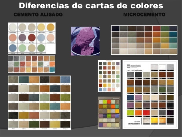 diferencias de cartas de colores alisado