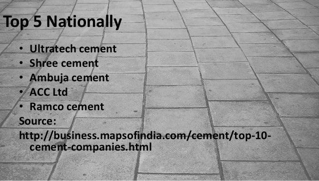 Ultratech Cement Market : Cement industry economic status