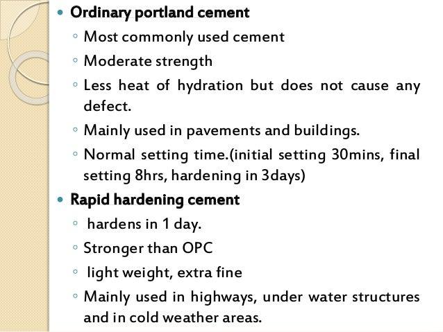 Ordinary Portland Cement : Cement
