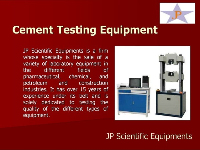 Cement Testing Equipment In India