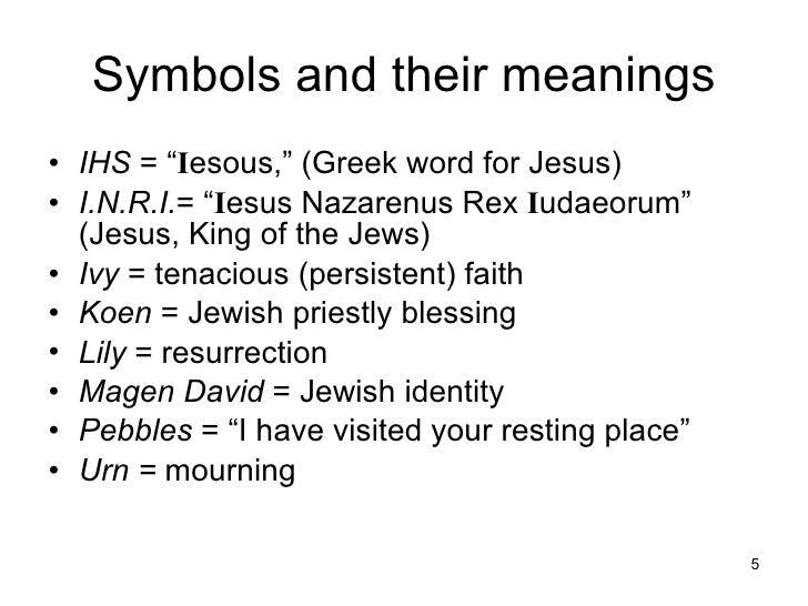 Cemetery Symbols