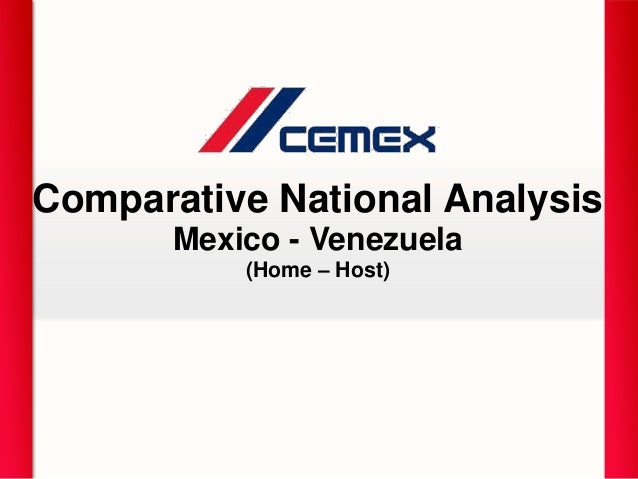 Comparative National Analysis Mexico - Venezuela (Home – Host)
