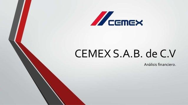 analisis de grupo cemex s a de c v