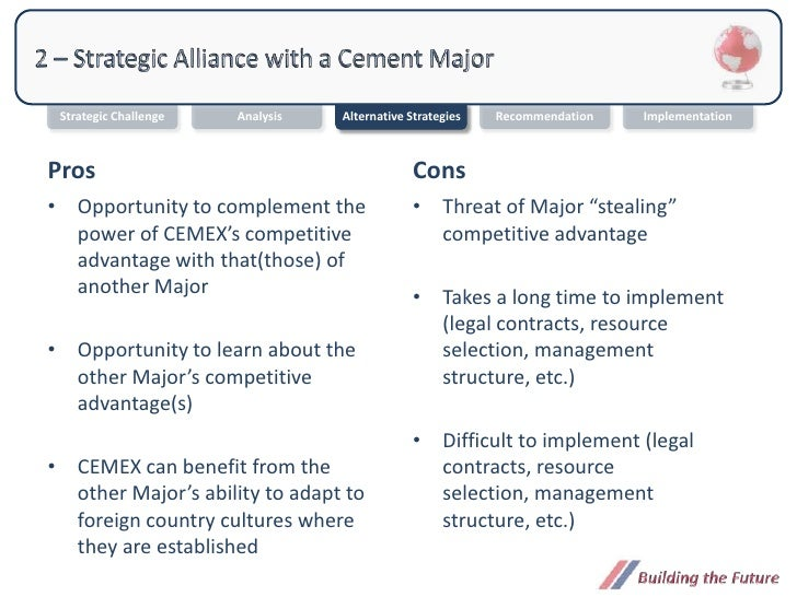 cemex and acquisition strategy Business mergers and acquisitions can be an effective strategy for  the two  companies involved in this merger were cemex, a building.