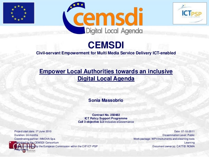 CEMSDI                 Civil-servant Empowerment for Multi Media Service Delivery ICT-enabled                   Empower Lo...