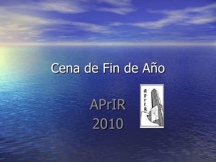 Cena de Fin de Año APrIR 2010