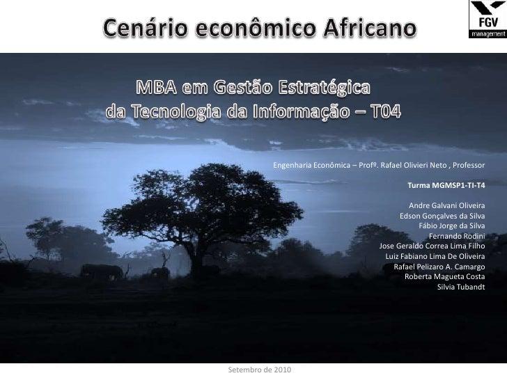 Cenário econômico Africano<br />__________________________________________________________________________________________...