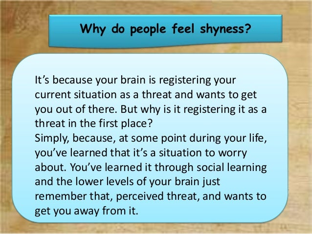how to overcome shyness Many people struggle with shyness and find it hard to overcome it  it can take  some effort but it's not impossible to open up and be confident  in this skillopedia .