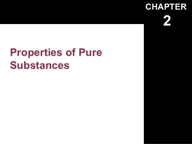 CHAPTER                        2Properties of PureSubstances