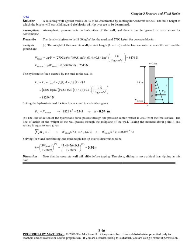 fluid mechanics cengel 3rd edition solution manual