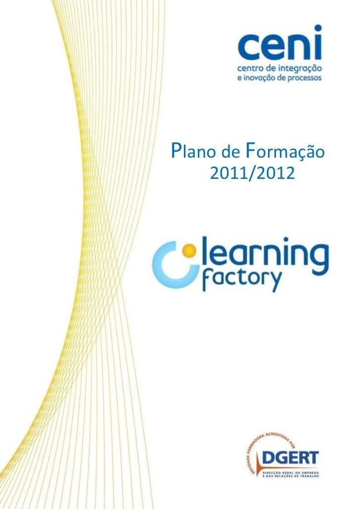 Plano de Formação    2011/2012