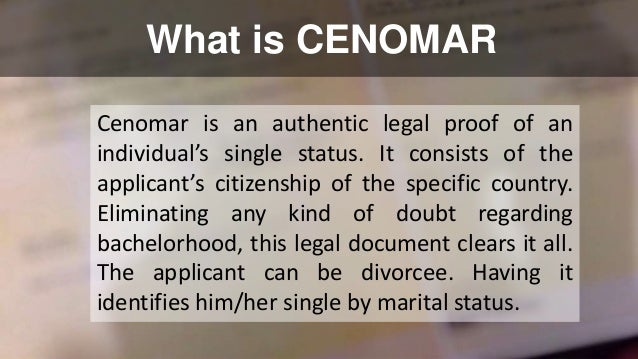 how to get cenomar online