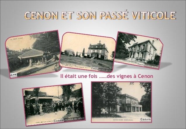 Il était une fois ……des vignes à Cenon