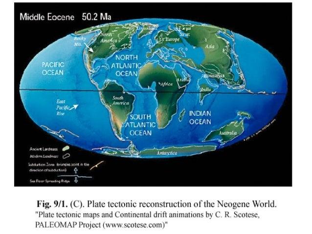 Miocene World Map.Miocene Pliocene