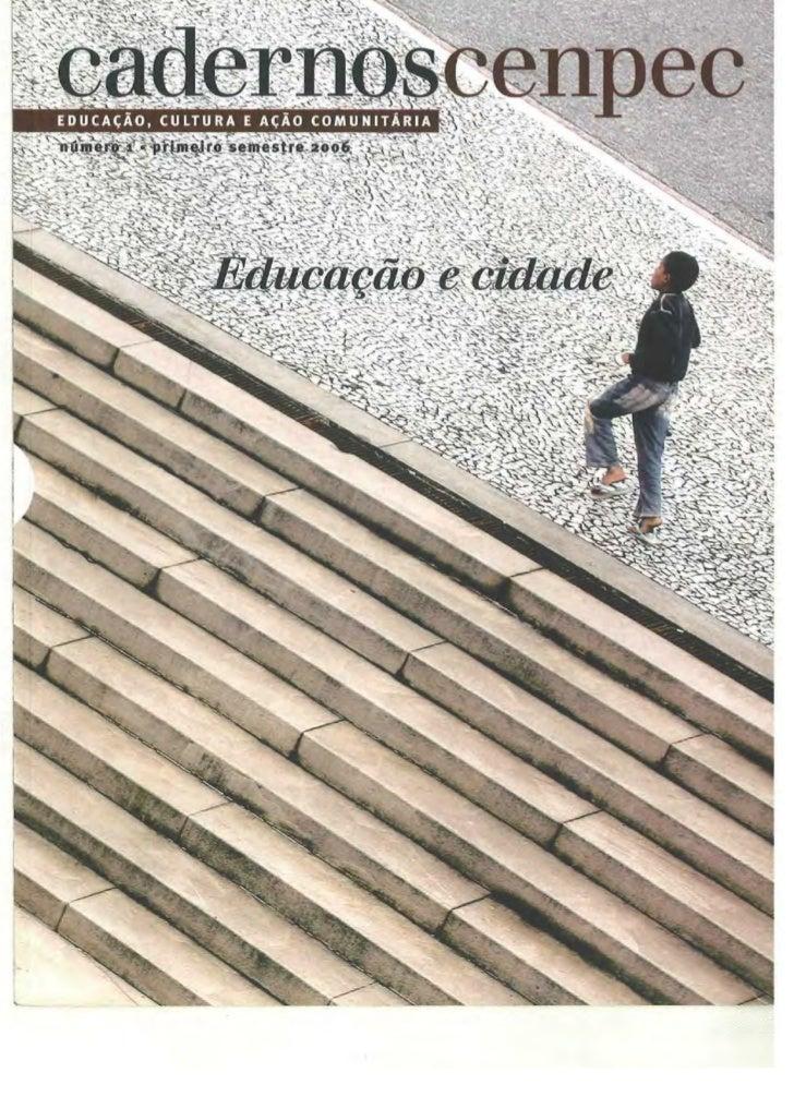 Cenpec educação e cidade