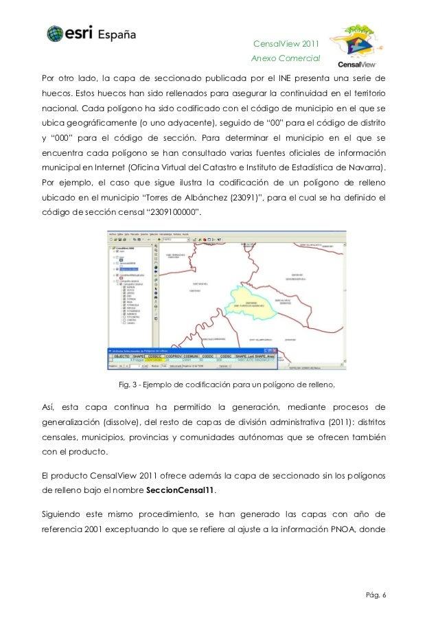 Censal view 2011 anexo comercial esri espa a for Oficina virtual del catastro valencia