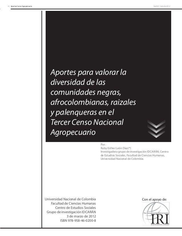 -1- Aportes Censo Agropecuario                                                                                No.001 / Jul...