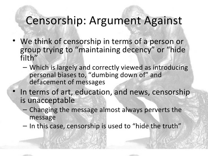 arguments against music censorship