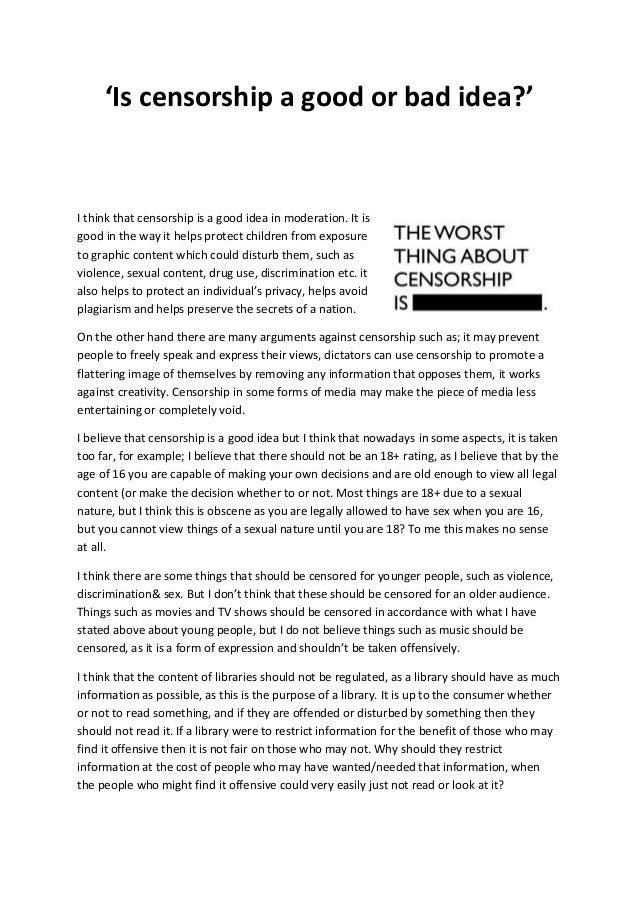 How To Write A Good Essay Paragraph Censorship Essay How To Write A Critical Analysis Essay Example also Take A Stand Essay Topics Censorship Essay  Rohosensesco A Message To Garcia Essay