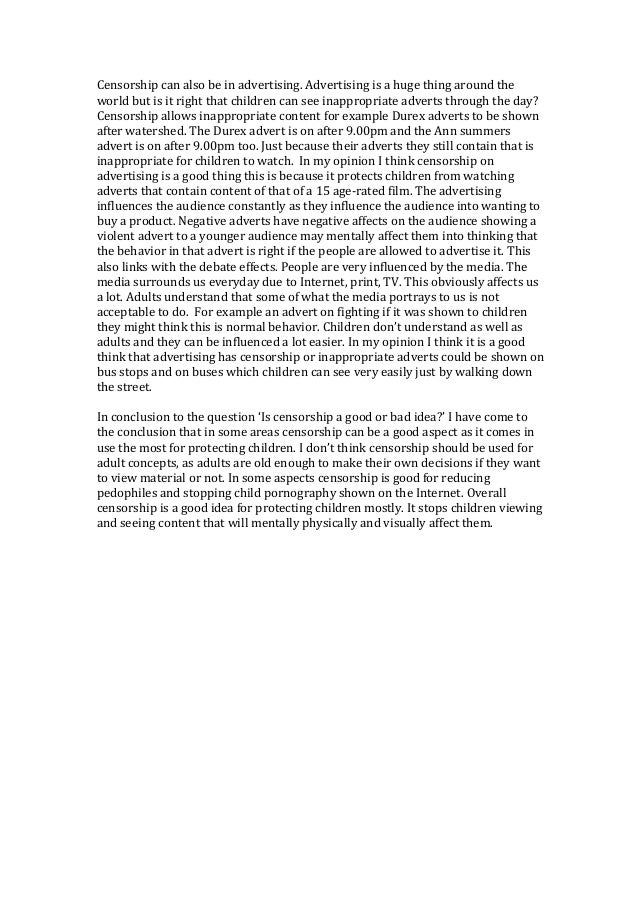 the importance of censorship essay