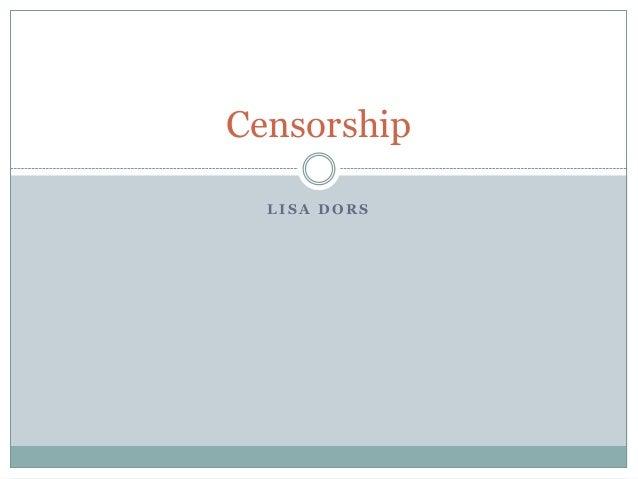 Censorship  LISA DORS