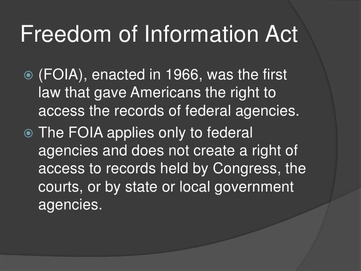 the freedom of information act South carolina freedom of information act (foia) section 30-4-10 the south carolina freedom of information act (foia) is part of the south carolina code of laws allowing any citizen to have access to public records and to meetings of public bodies with some exceptions as defined in the act.