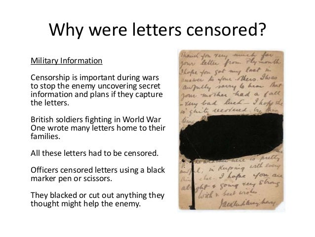 Censorship Ww1