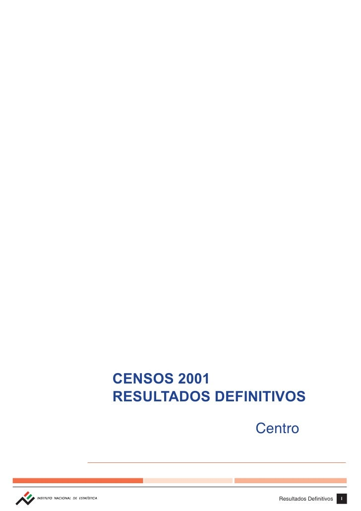 Censosc 2001 portugal